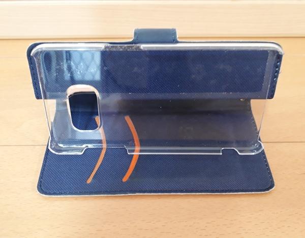 手帳型の携帯ケース 折返しスタンド