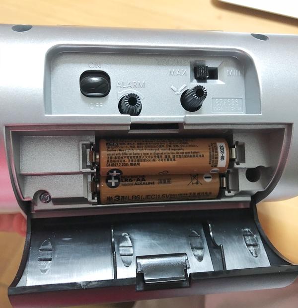 バトルパワーR636の電池を入れる部分