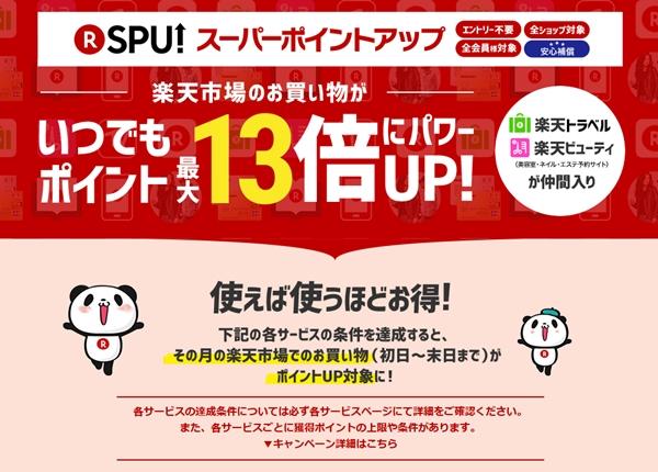 SPU 楽天スーパーポイントアッププログラム